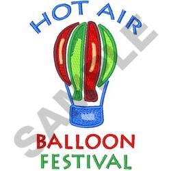 HOT AIR BALLOON FESTIVAL embroidery design