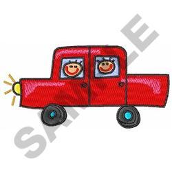CHILDREN IN AUTOMOBLIE embroidery design