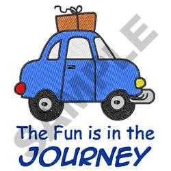 FUN IS IN THE JOURNEY embroidery design