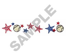 BASEBALL BORDER embroidery design