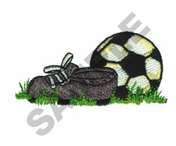 SOCCER CLEAT AND BALL embroidery design