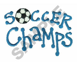 SOCCER CHAMPS embroidery design