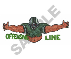 OFFENSIVE LINE embroidery design