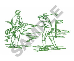 CADDY & PLAYER embroidery design