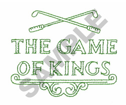 THE GAME OF KINGS embroidery design