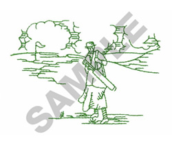 LADY ON THE COURSE embroidery design