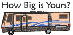 HOW BIG IS YOURS embroidery design