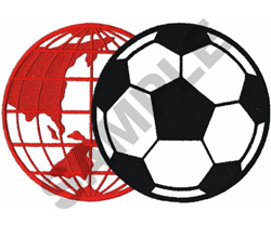 GLOBE & SOCCER BALL embroidery design