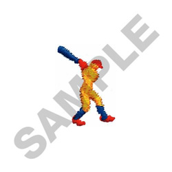 SMALL BATTER embroidery design