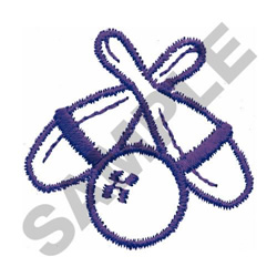 BOWLING BALL & PINS embroidery design