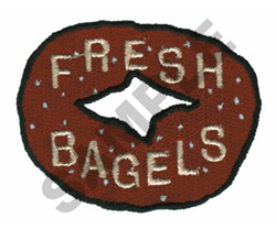FRESH BAGELS embroidery design