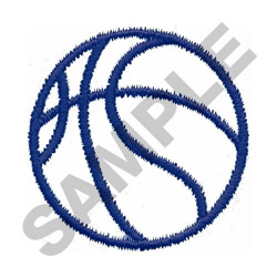 BASKETBALL OUTLINE embroidery design