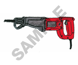 RECIPROCATING SAW embroidery design