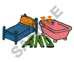 BED AND BATH embroidery design