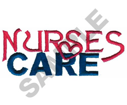 NURSES CARE embroidery design