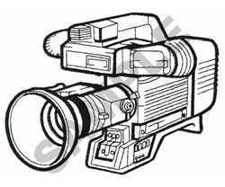 CAMCORDER embroidery design