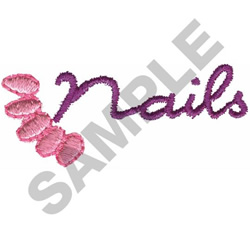 NAILS LOGO embroidery design