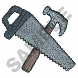 JIGSAW AND HAMMER embroidery design