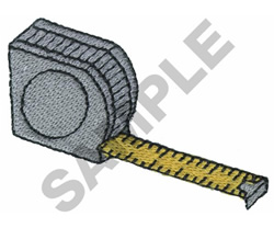 MEASURING TAPE embroidery design