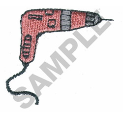HAND DRILL embroidery design