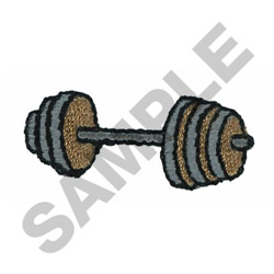 BARBELLS embroidery design