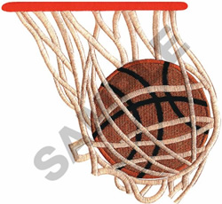 BASKETBALL IN HOOP embroidery design