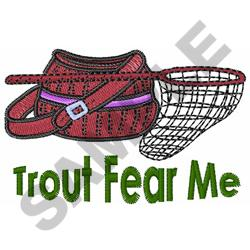 TROUT FEAR ME embroidery design