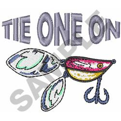 TIE ONE ON embroidery design