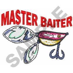 MASTER BAITER embroidery design