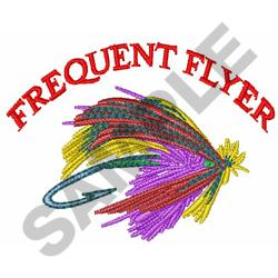 FREQUENT FLYER embroidery design