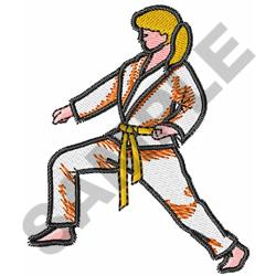 MARTIAL ARTS GIRL embroidery design