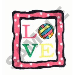 LOVE VOLLEYBALL embroidery design