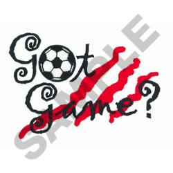 GOT GAME SOCCER embroidery design