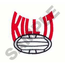 KILL IT embroidery design