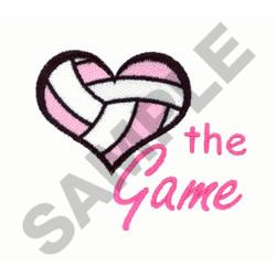 LOVE THE GAME VOLLEYBALL embroidery design
