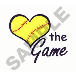 LOVE THE GAME SOFTBALL embroidery design