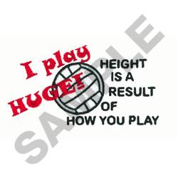 VOLLEYBALL PLAY HUGE embroidery design