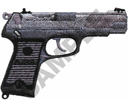 9MM RUGER AUTO embroidery design