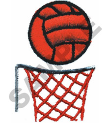 NETBALL embroidery design