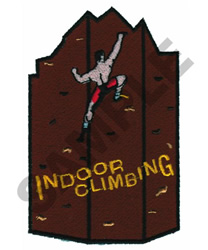 INDOOR CLIMBING embroidery design