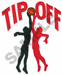 TIP OFF embroidery design