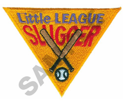 LITTLE LEAGUE SLUGGER embroidery design
