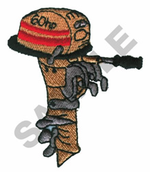 BOAT MOTOR embroidery design