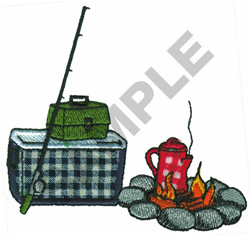 CAMPING LOGO embroidery design