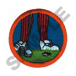 PUTTING CREST embroidery design