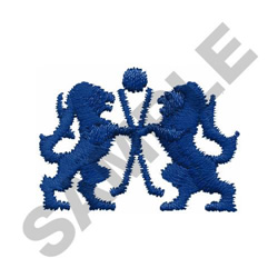 HOCKEY LIONS embroidery design