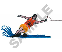 WATER SKIER embroidery design