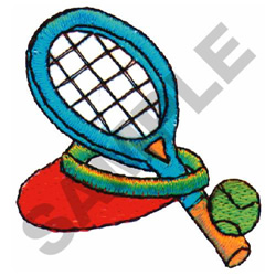 TENNIS EQUIPTMENT embroidery design