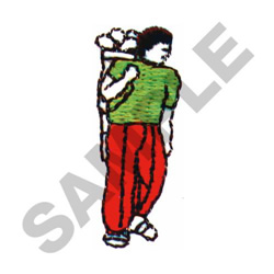GOLF PLAYER embroidery design