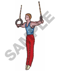 RINGS GYMNAST embroidery design